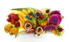 מגש פירות מלבן זכוכית