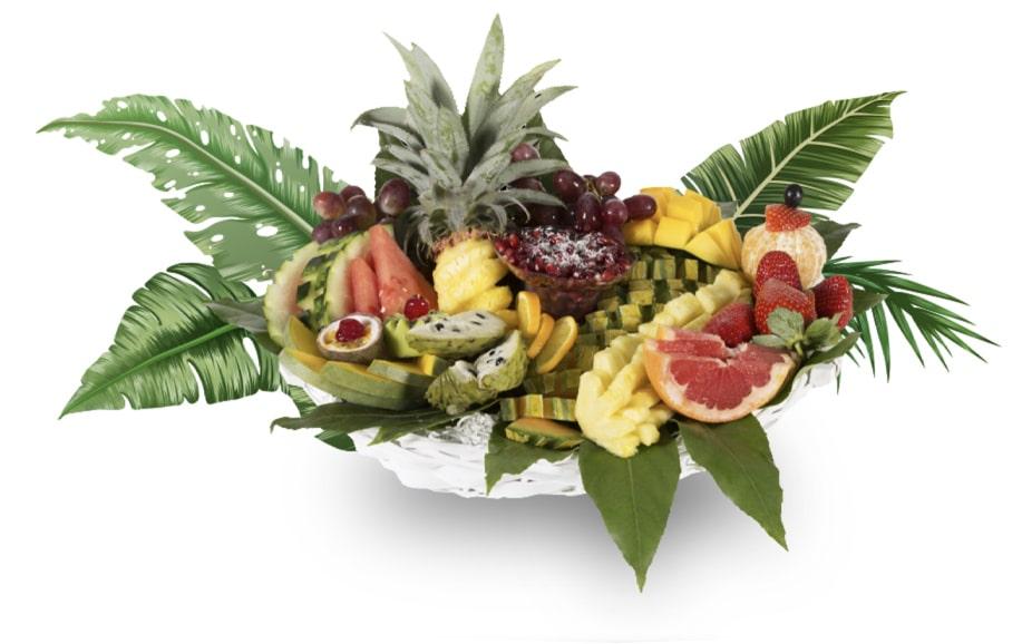 סלסלה טרופי פרי - ליצ'י מגשי פירות
