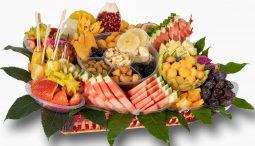 סלסלת פירות משולבת פירות יבשים